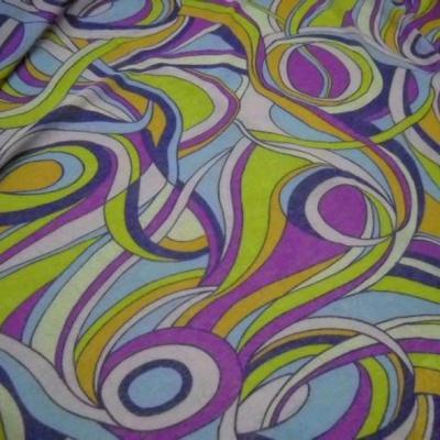 Resille mousse motif vintage psychedelique 1