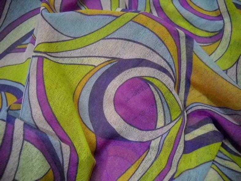 Resille mousse motif vintage psychedelique 2
