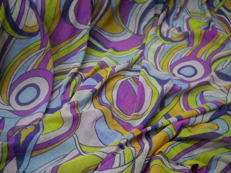 Resille mousse motif vintage psychedelique 3