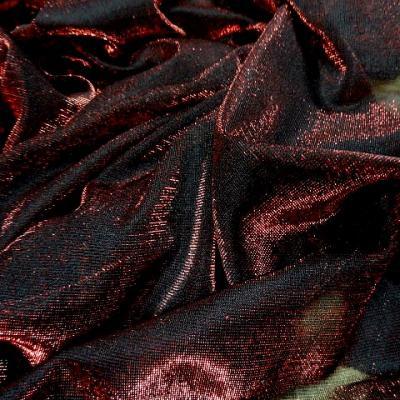 Resille noire fils lurex rouge 2