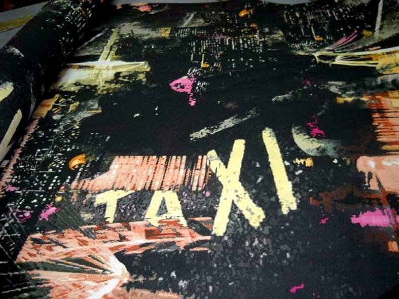 Resille noire motif urbain 1