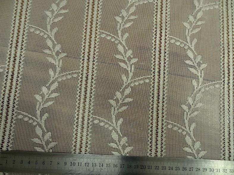 Rideau facon crochet blanc creme 1 68 m 3