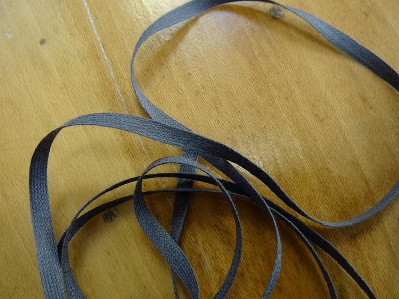 Ruban coton plat gris moyen 1