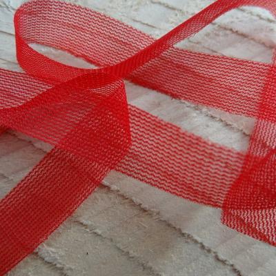 Ruban de resille rouge hermes 12 mm 1