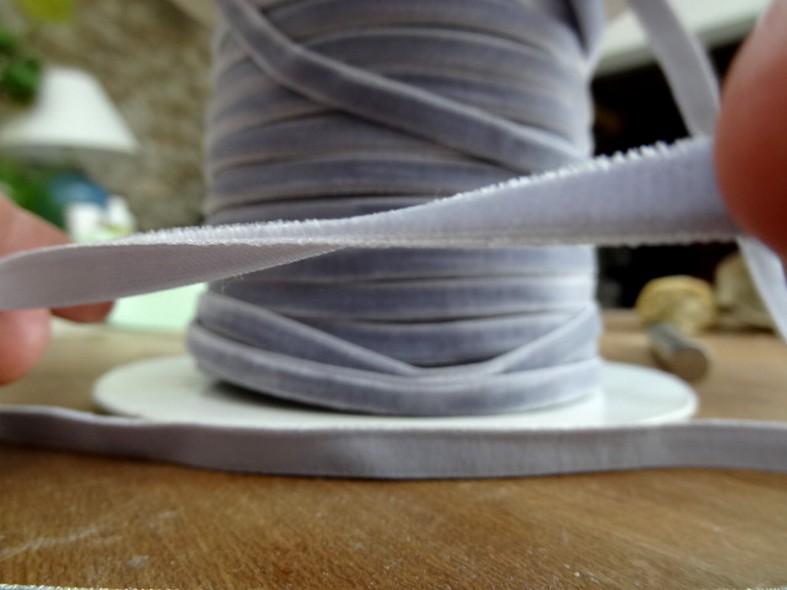 Ruban de velours elastique lavande clair 3