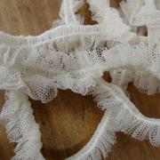 Ruban elastique resille froncee blanc casse 2