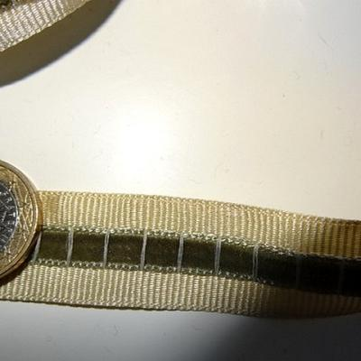 Ruban gros grain et velours entre deux kaki beige 3