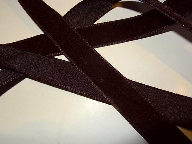 Ruban velours chocolat 16 mm 2
