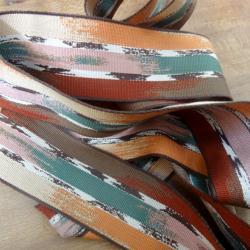 Sangle colorée teintes ocrées 5 cm