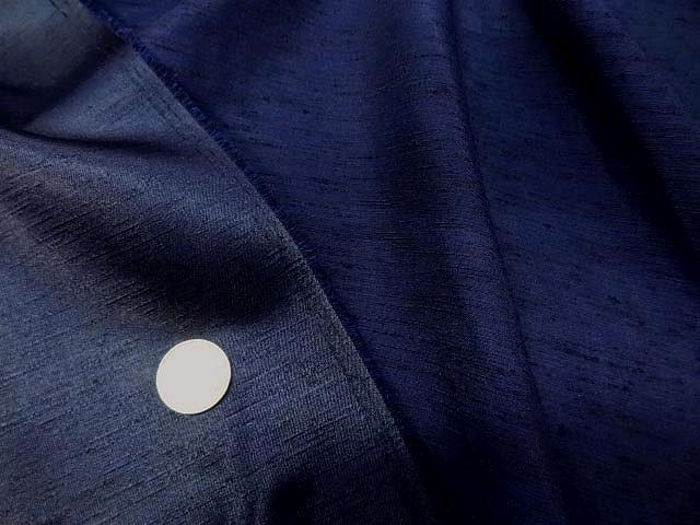Satin bleu nuit effet doupions 1