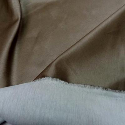 Satin coton epais marron glace 1