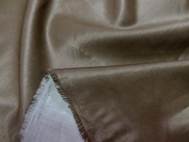 Satin coton epais marron glace 3