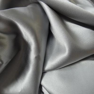 Satin de soie gris argent 1
