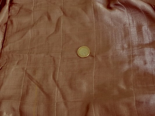 Satin doublé coton teinte marron sépia 1