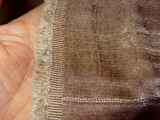 Satin doublé coton teinte marron sépia 3