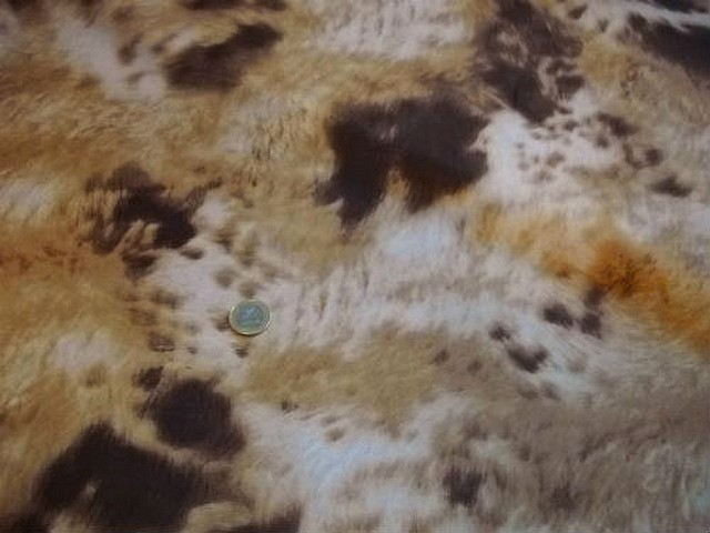 Satin doublure motif fourrure animale 2