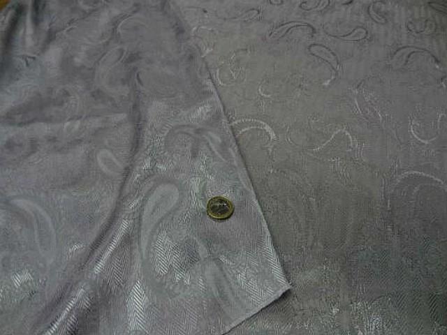 Satin gris metal cachemire et chevrons 1