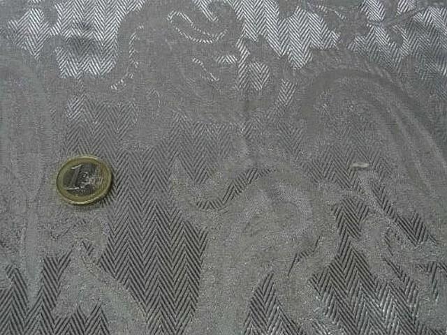 Satin gris metal cachemire et chevrons 3