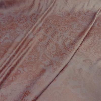 Satin lycra rose saumon imprime 2 1
