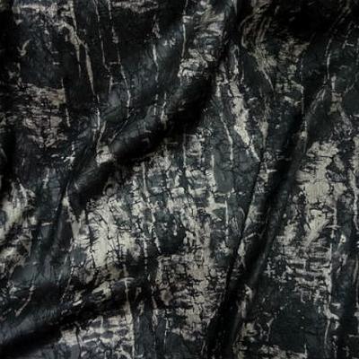 Satin noir marbre froisse effet craquele 1
