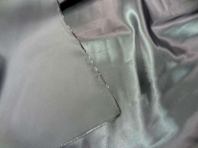 Satin polyester gris metal 2