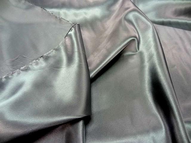 Satin polyester gris metal 4