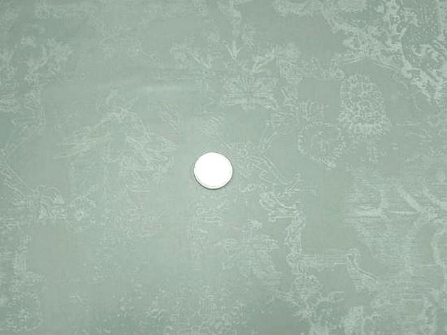Satin vert de gris fleurs en impression 1