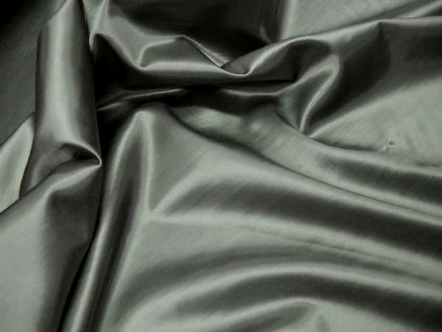 Satin viscose gris taupe clair tissage relief 1