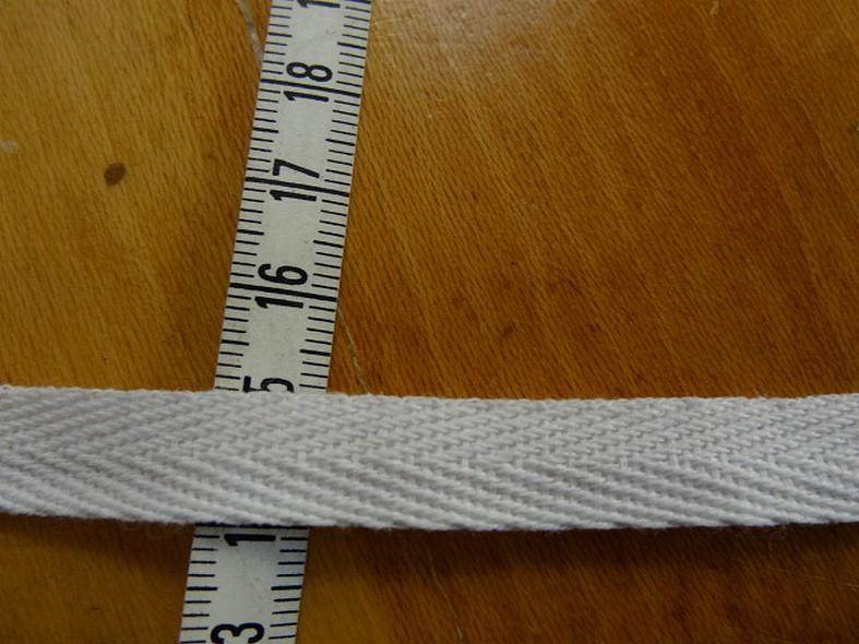 Serge coton blanc 11 mm 2