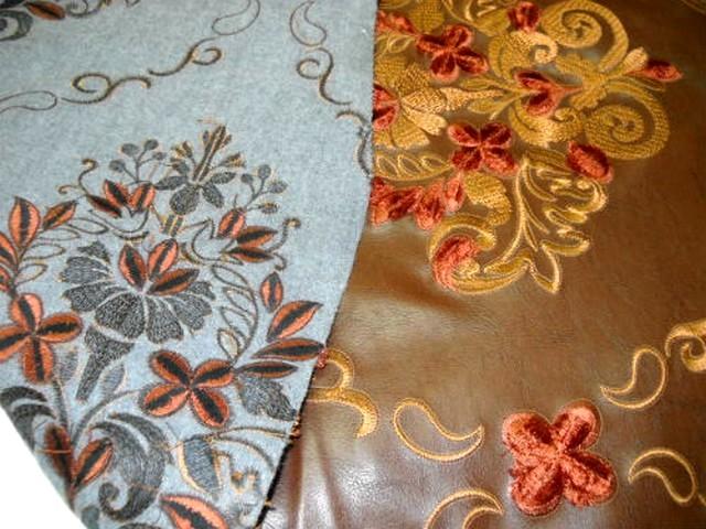 Skai caramel brode motifs classiques 2