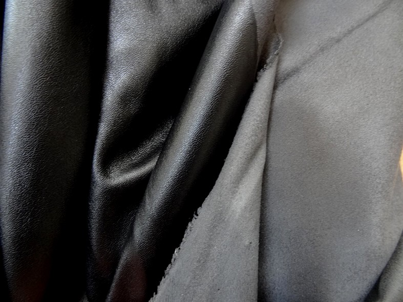 Skai et suedine reversible noir et gris souris 2