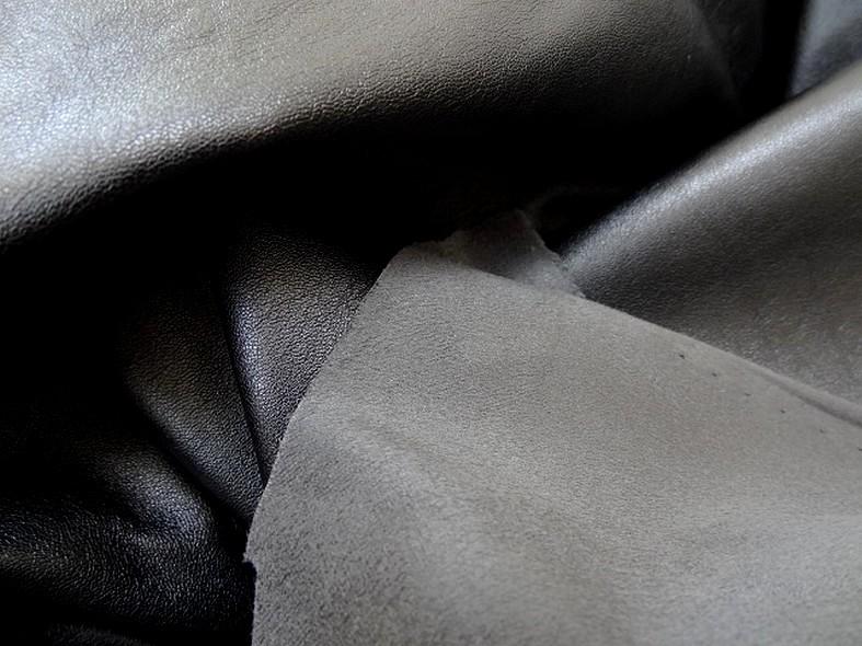 Skai et suedine reversible noir et gris souris 3