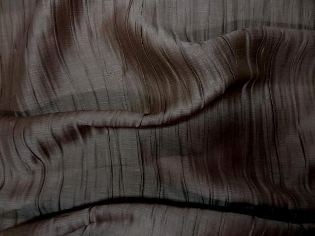 Soie chataigne plissee froisse permanent