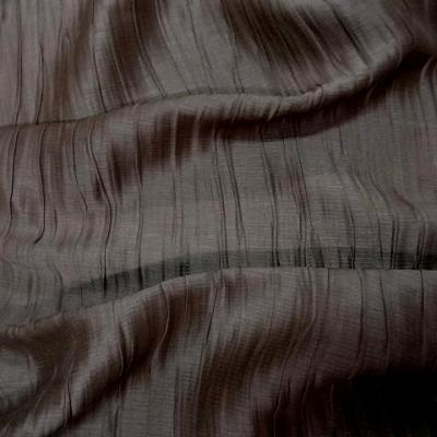 Soie chataigne plissee froisse permanent 1