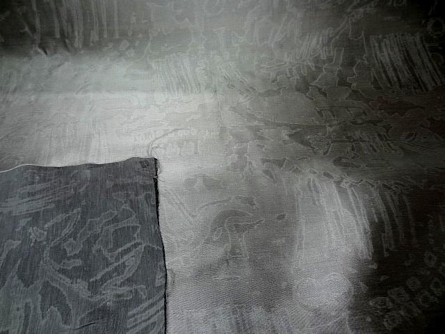 Soie gris plomb faconnee effet marbre 3