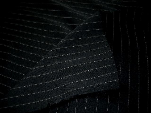 Stretch lycra noir rayures tennis blanches 3