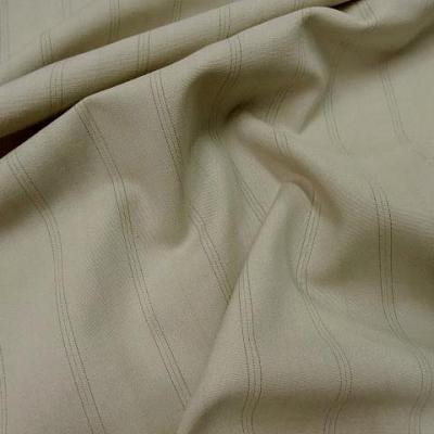 Stretch polyester beige fines rayures 1