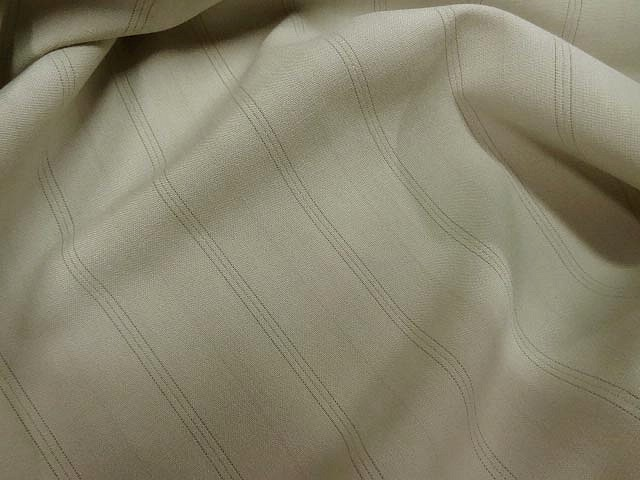 Stretch polyester beige fines rayures 2