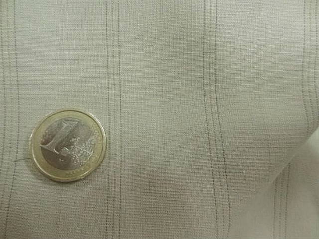 Stretch polyester beige fines rayures 3