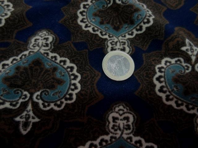 Suedine imprimee marron bleu marine 3