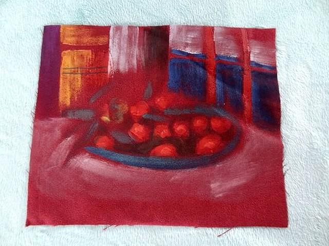 Suedine peinte coupe de fruits 01