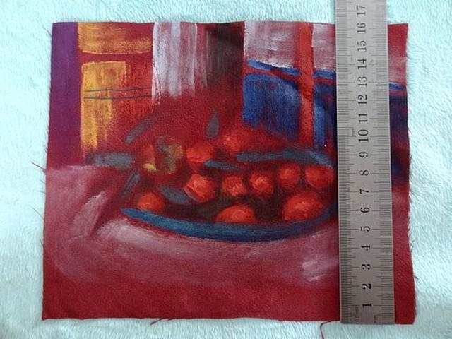 Suedine peinte coupe de fruits 02