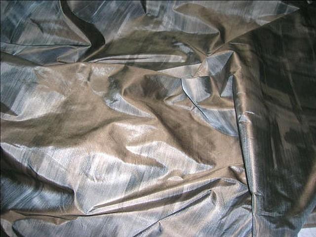Taffetas beige grise imitant tissage relief 1 1