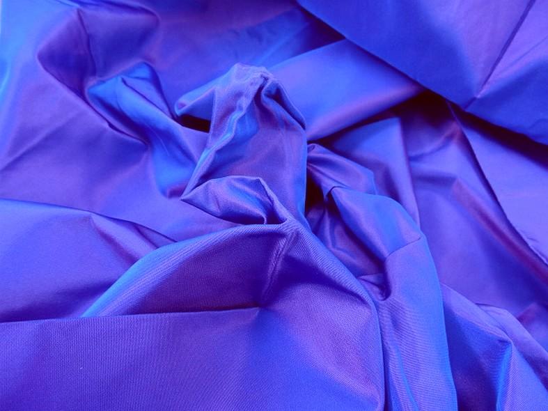 Taffetas bleu electrique reflets fuchsia 1