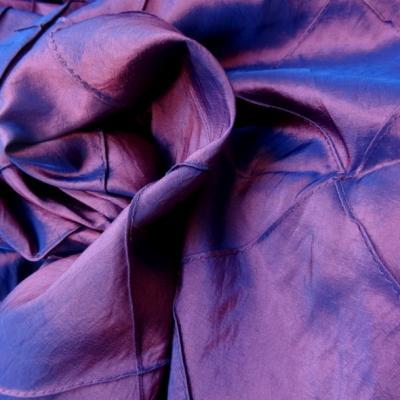 Taffetas bleu rose coutures arlequin 1