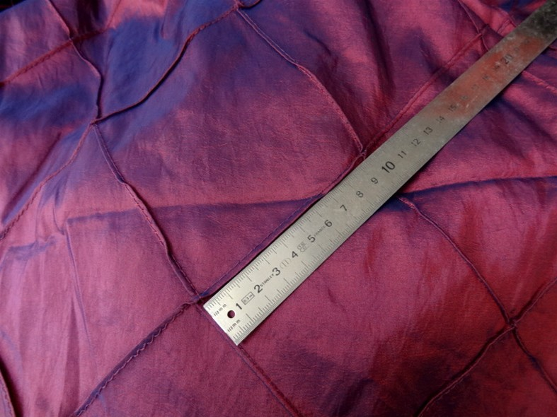 Taffetas bleu rose coutures arlequin 3
