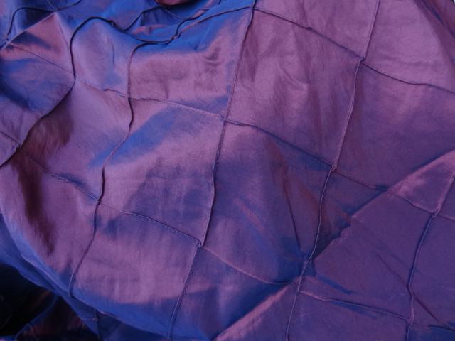 Taffetas bleu rose coutures arlequin