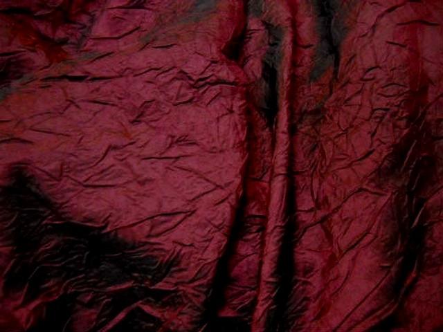 Taffetas bordeaux noir froisse nervure 1