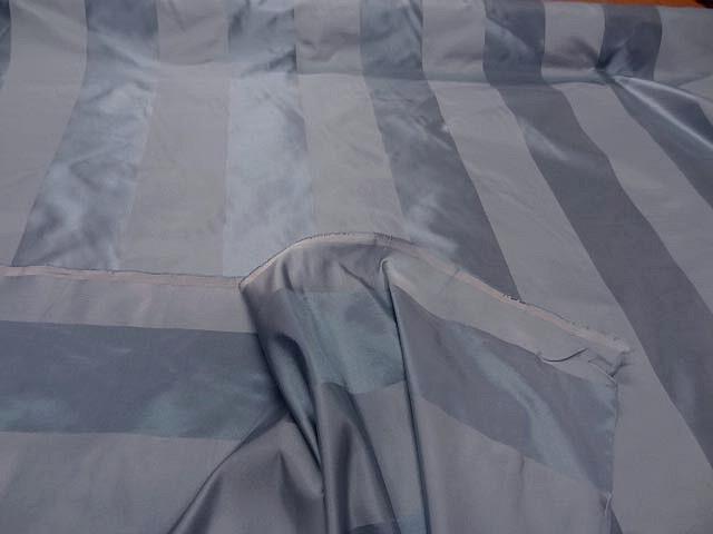 Taffetas de soie larges rayures gris acier 1
