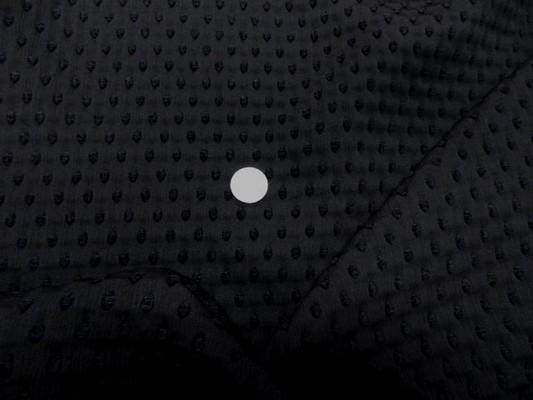 Taffetas façonné noir et velours chenille 1